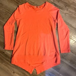 Soft Surroundings Coral Orange Sweater Long Sleeve